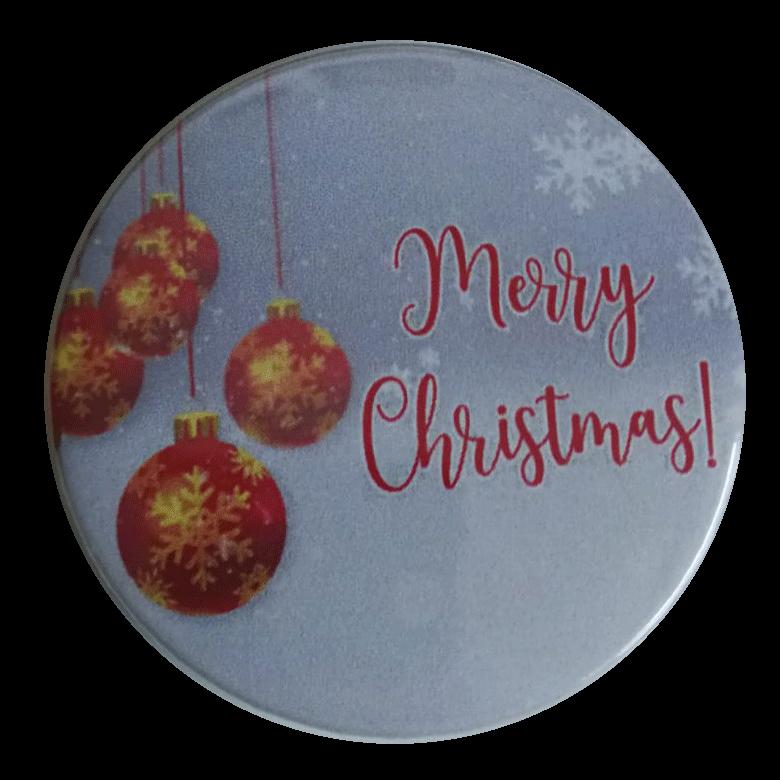 merry christmas button